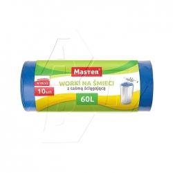 MASTER - Worki na Śmieci z Taśmą HDPE 10szt 60L