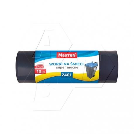 MASTER - Bardzo Wytrzymałe Worki LDPE 10szt 240L