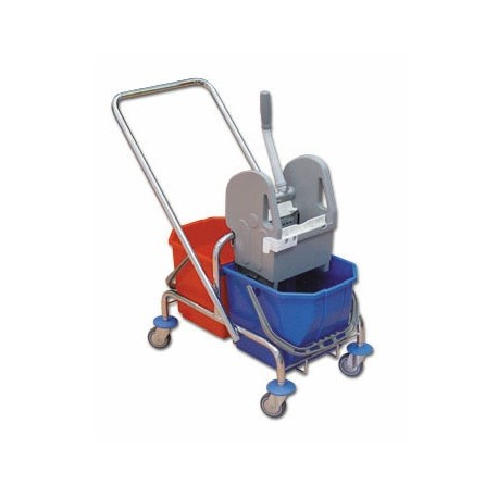 TTS Wózek 2 x 15 l. z wyciskarką ocynk