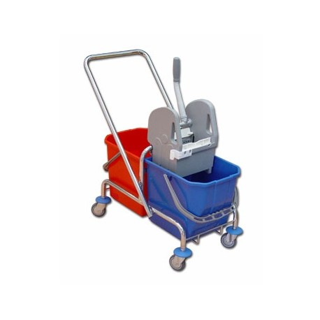 TTS Wózek 2 x 25 l. z wyciskarką ocynk