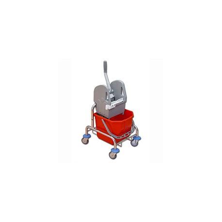 TTS Wózek 15 l. z wyciskarką chrom