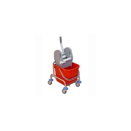 TTS Wózek 25 l. z wyciskarką chrom