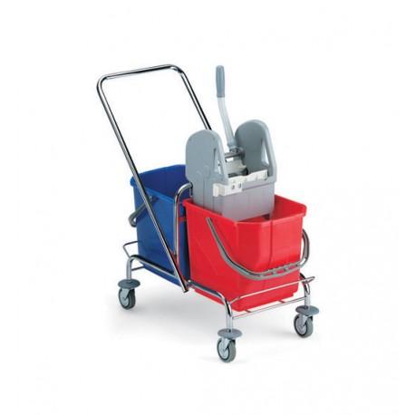 TTS Wózek 2 x 15 l. z wyciskarką chrom